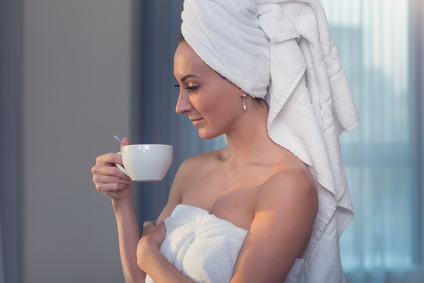 tea after bath